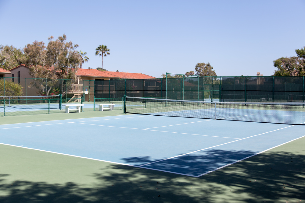 Four tennis courts!