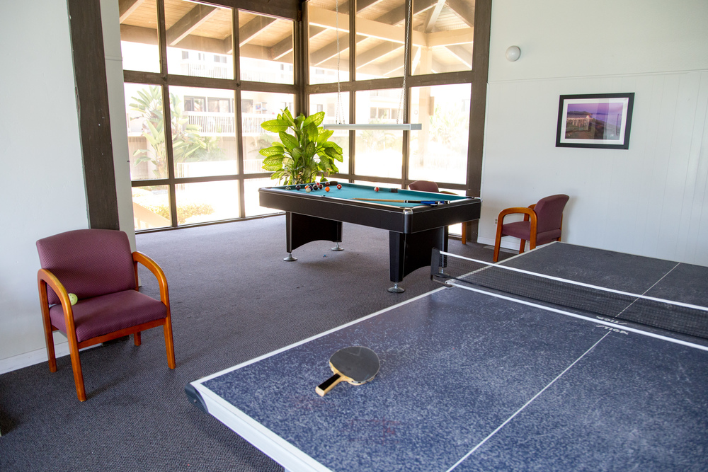 Game room with table tennis, billiards, games, etc.