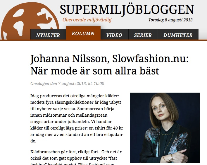 Supermiljöbloggen.se - krönika om Slow Fashion — Slow fashion av ... 97fdafc38796d