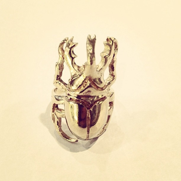 Ring of the day: Tong beetle ring, 395 SEK.#johannan
