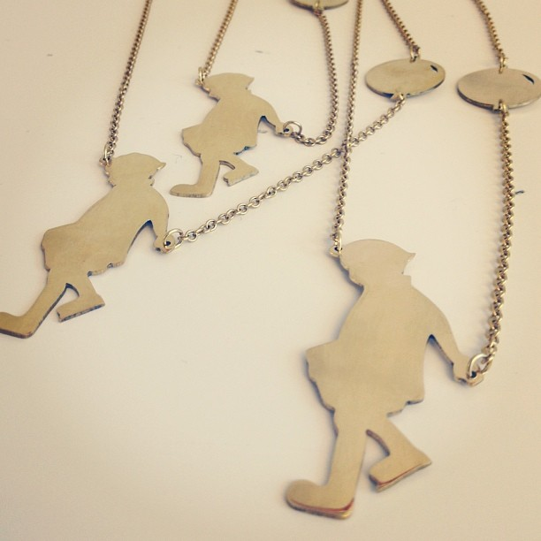 Pochai - necklace with boy and balloon, 450 SEK. Back in stock later this week!