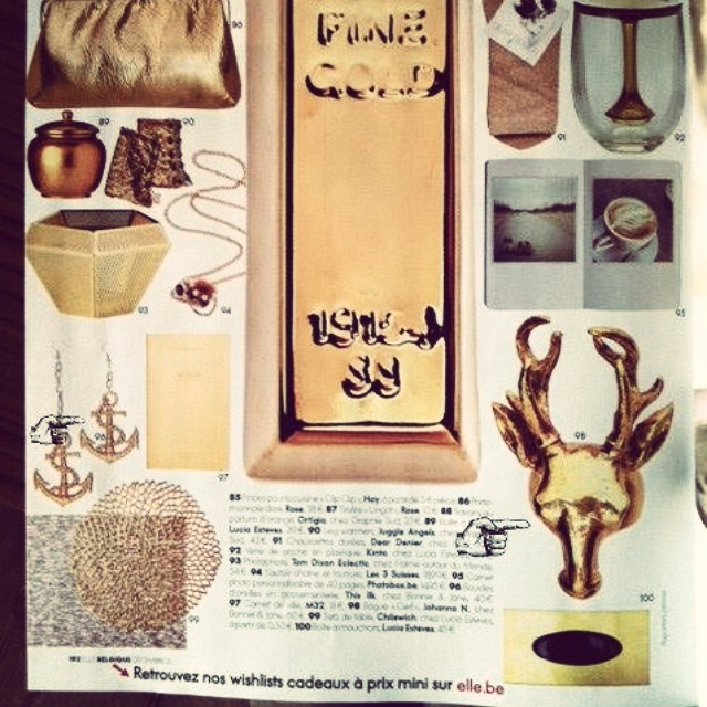 Lovely Friday! Our deer ring Gwang is featured in @ellebelgique. #johannan