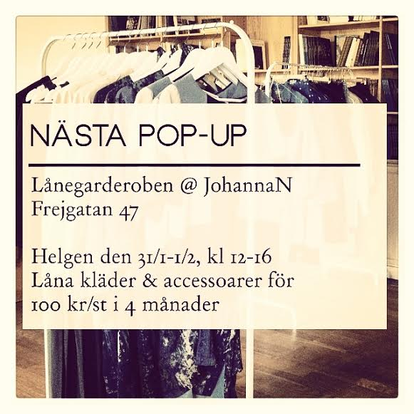 Pop-Up Lånegarderoben