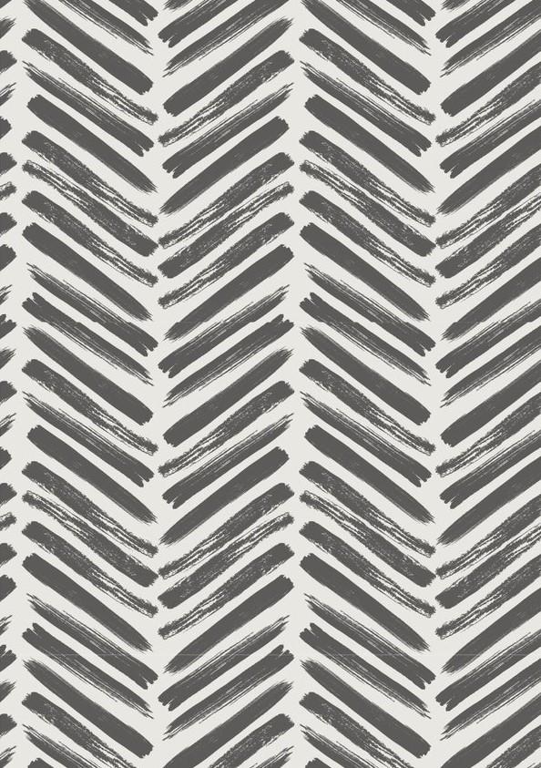 Wallpaper option 1: Herringbone in Charcaol