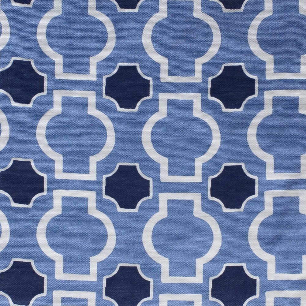 Roman Shade option 1: Blue and White Tiles