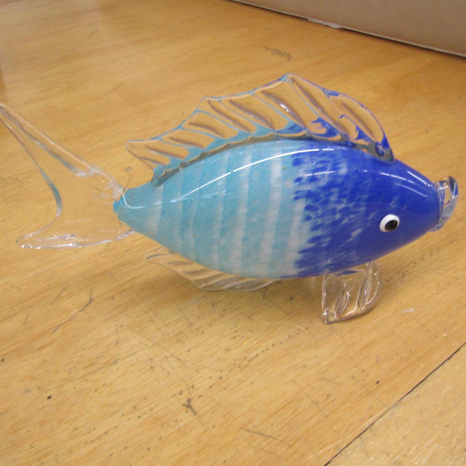 Glass Fish Decor Nautical Pickers