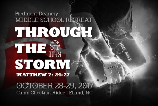 Middle School Retreat through our Deanery.  Register here.