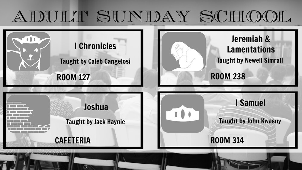 New Sunday School Classes Begin Sunday Popc