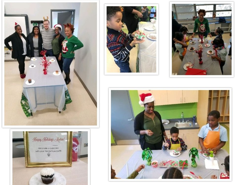 Adopt-a-School partner DCPS Office of Labor Management & Employee Relations supports and engages with students at Moten Elementary School around the holiday times.