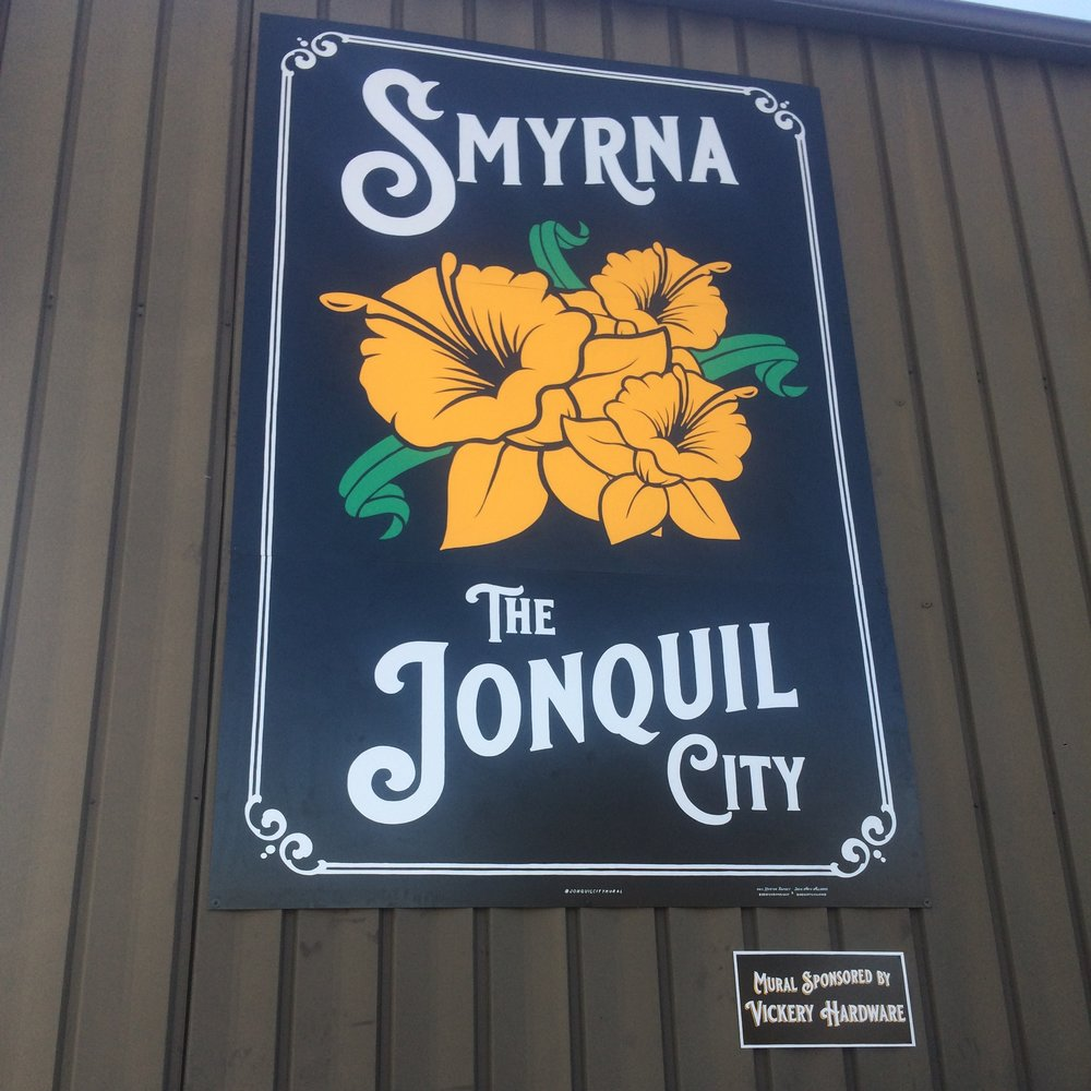 Smyrna, the Jonquil City mural at Vickery Hardware