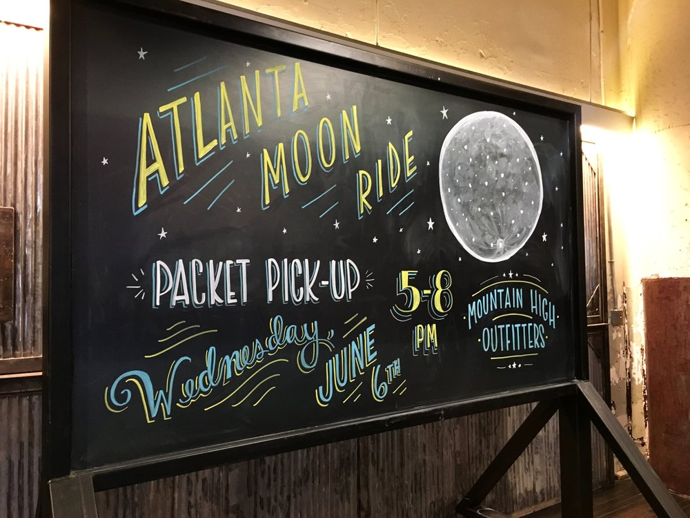 Atlanta Moon Ride Chalkboard at Ponce City Market