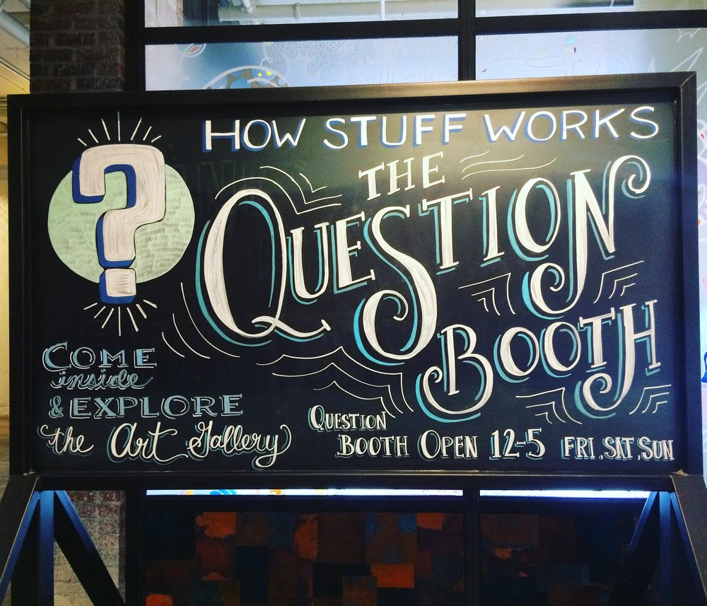 How Stuff Works The Question Booth at Ponce City Market, May 2018