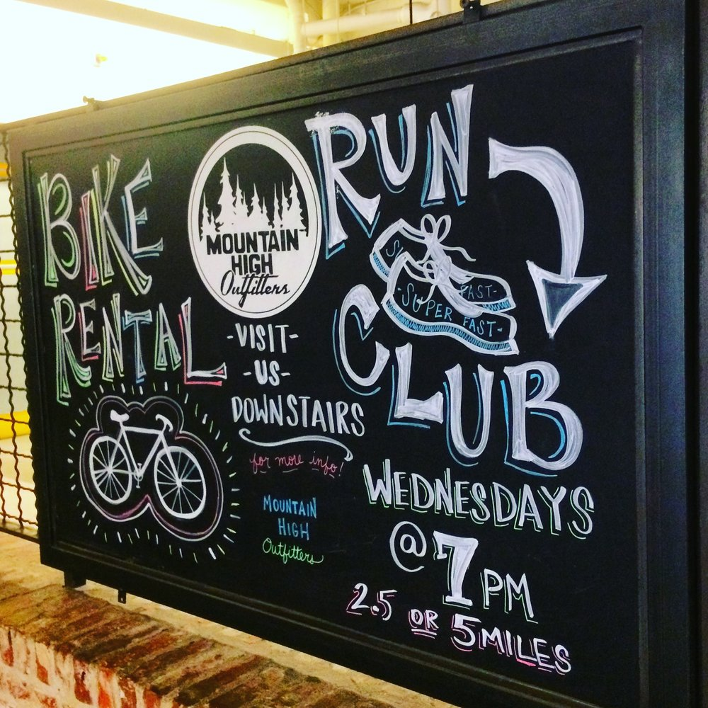 Mountain High Outfitters Bike Rental + Run Club