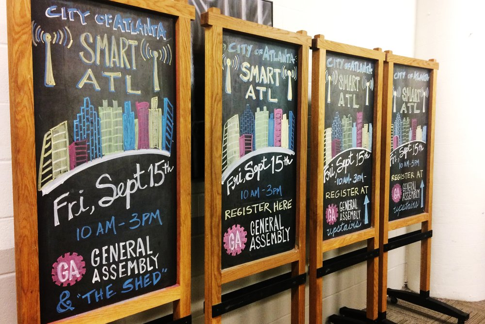 Smart ATL chalkboards, Ponce City Market