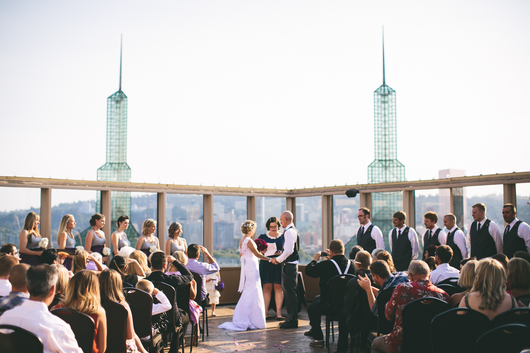 windows skyroom wedding