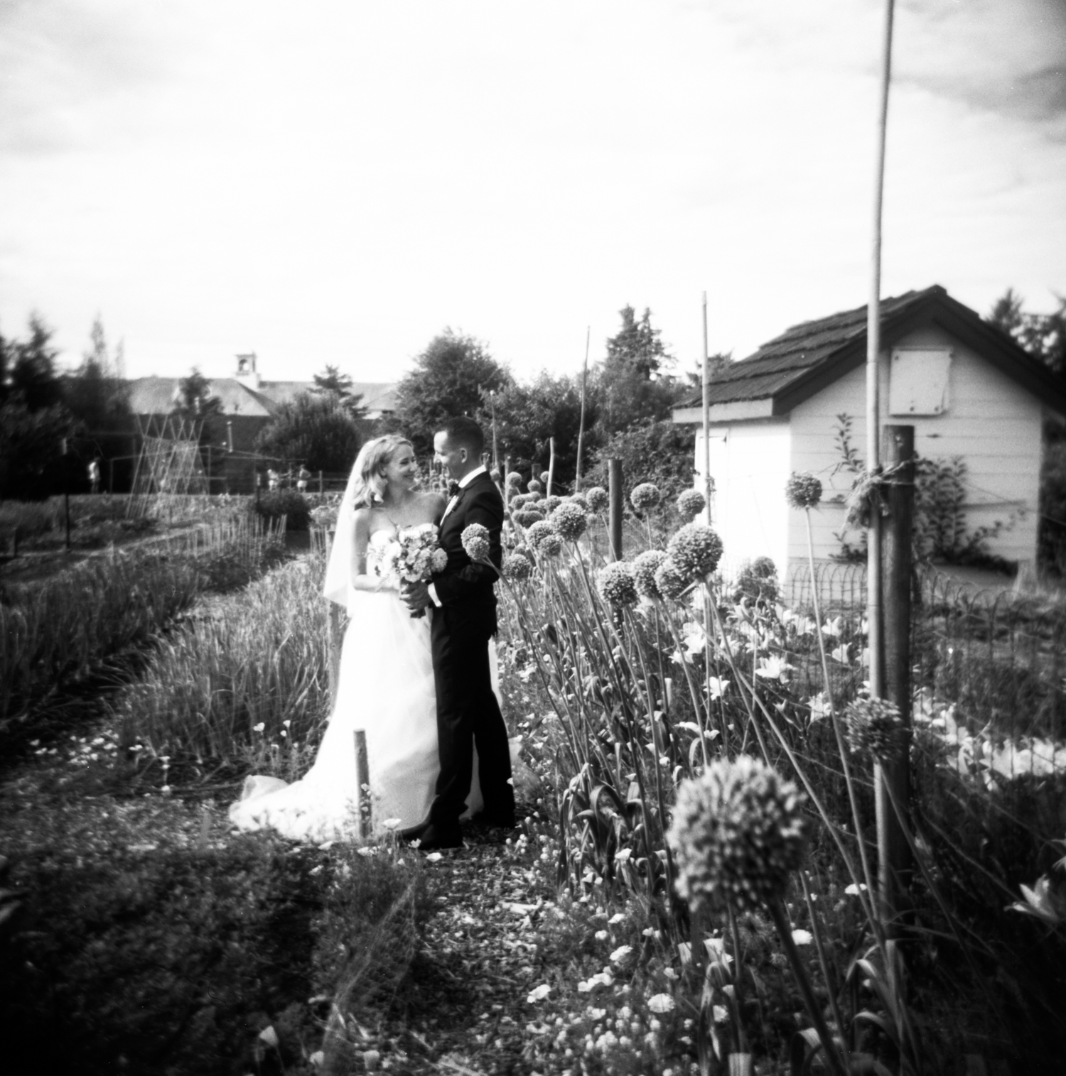 holga wedding photo