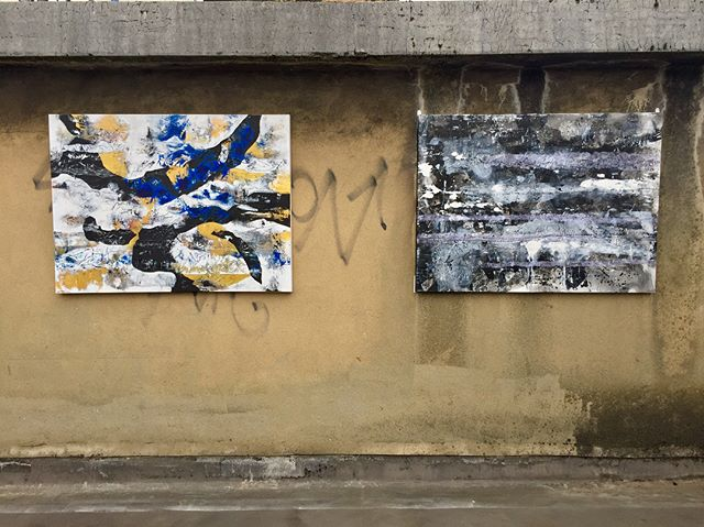 Site installation at the roof top of 8 Albert Embankment's workshop building for @pilbrowandpartners 5th Anniversary in conjunction with @christiancapelliarchitect Congratulations and thank you for the opportunity (ps I did work on this development the past year :) #abstractexpressionism #acrylic #ink #canvas #paper #art #artist #londonart #kvduongart #fineart #gallery #hotelart #artfair #contemporaryart #modernart #painting #abstract #calligraphy #artcan #bristolart #cliftonfineart