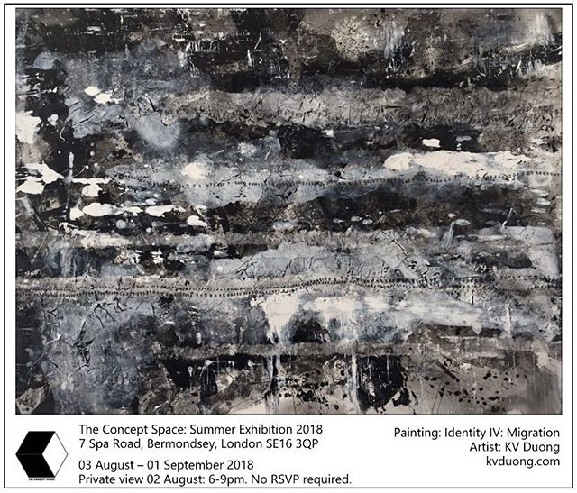 Excited to announce that I've been selected for the @tconceptspace1 's Summer Exhibition. Private view is Thurs August 2nd, 6-9pm in Bermondsey, no RSVP required.  #abstractexpressionism #acrylic #ink #canvas #paper #art #artist #londonart #kvduongart #fineart #gallery #hotelart #artfair #contemporaryart #modernart #painting #abstract #calligraphy #artcan #bristolart #cliftonfineart #tcsSummerExhibition