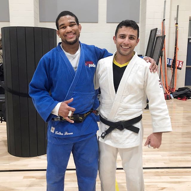 Meet our Exercise Specialist and Judo Athlete @sam.edge87 with Olympic Judo Athlete Colton Brown @cbrown90kg__ of Piscataway