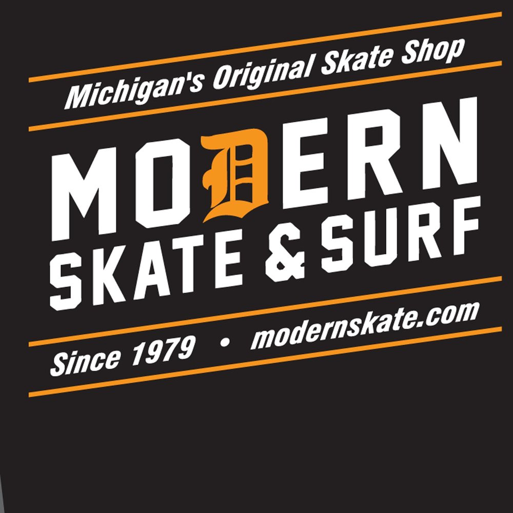 MICHIGAN ORIGINAL SKATE SHOP art proof black