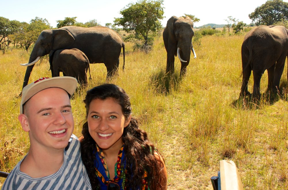 Here is Morgan and I on a safari in Zimbabwe!