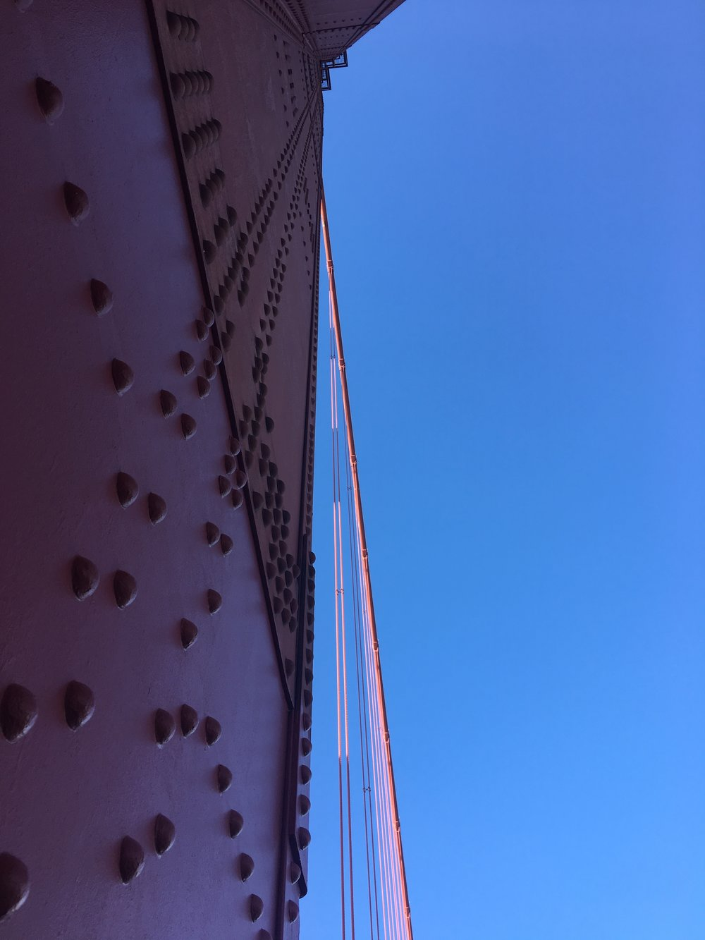 Here's a weird picture I took of the Golden Gate Bridge last January.