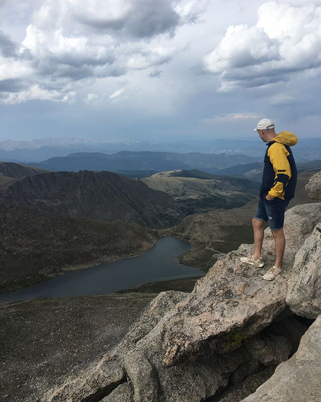 Pops and I are just testing the limits to how high you can safely get in #Colorado now. ⛰ ⛰ ⛰ ⛰ #mountevans #hiking #14er We drove all the way up let's be real #mountains #mountain #view #views #lake #father #dad