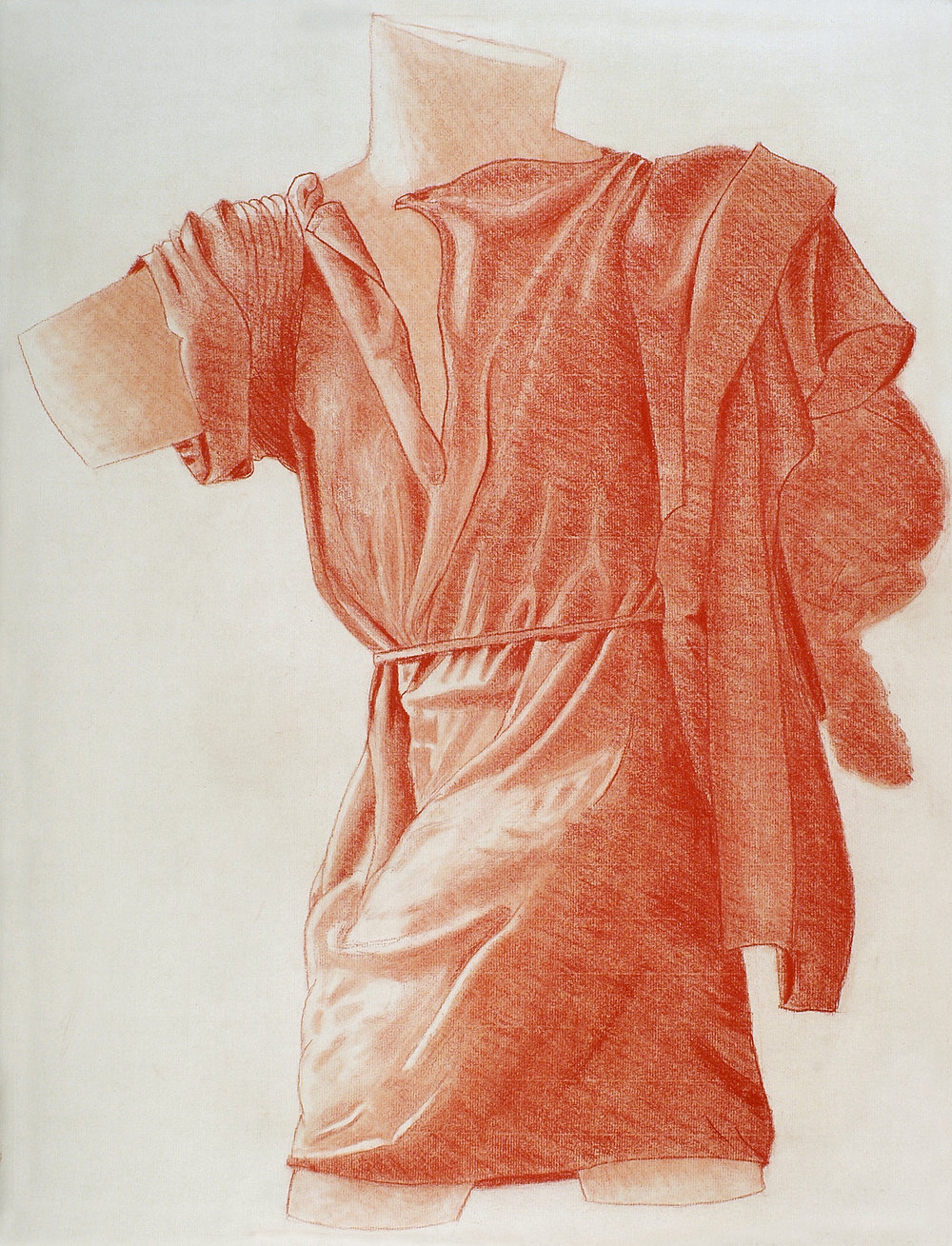 Drapery Study in red chalk