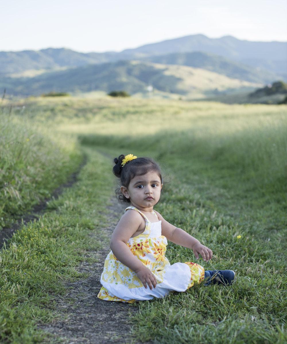 A Toddler at Santa Teresa County Park, San Jose, California