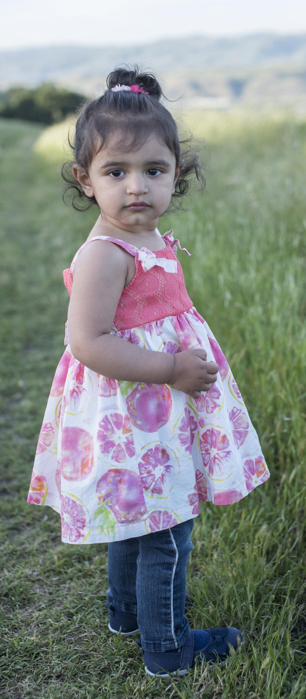 A Toddler Enjoying Nature at Santa Teresa County Park, San Jose, California