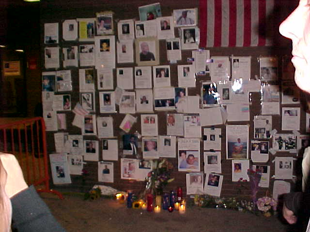 At the Prayer Wall on 9/12/01