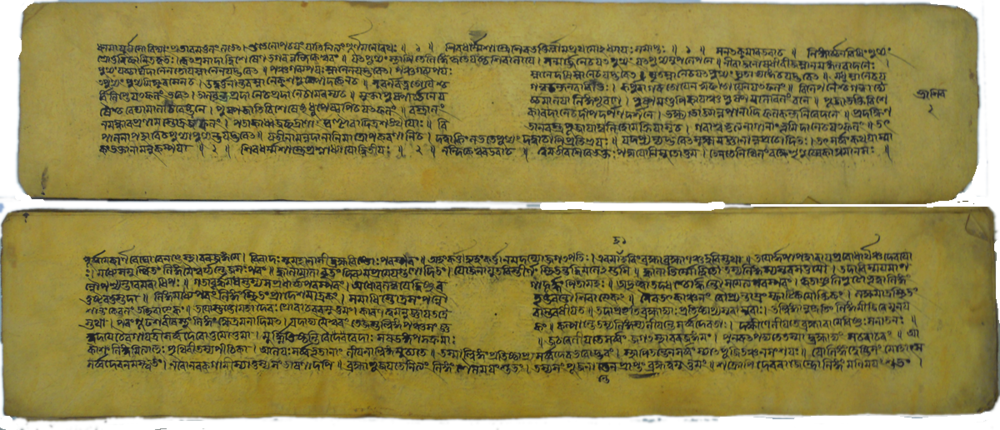 From a manuscript of the Śivadharmottara, written in the Bengali script in 1604 CE.