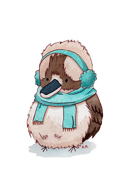 Kookaburra (watercolor & ink - 2016)