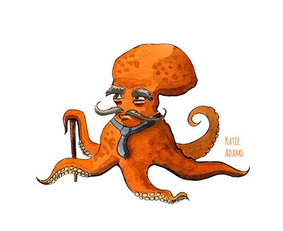 Octopus (watercolor & ink - 2016)