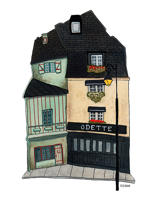 Odette (watercolor & ink - 2017)