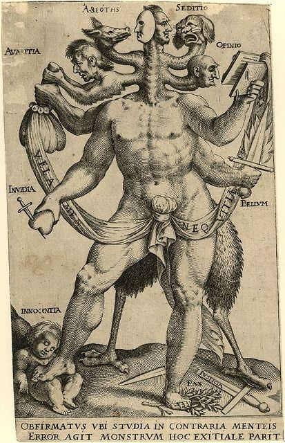 This is called The Allegory of the Five Obstinate Monsters. As in, those pesky defense mechanisms which trample innocence and make you into a bit of a pain in the butt.