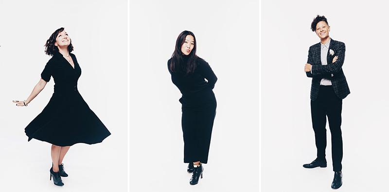 Portraits by Diana Levine: Julie Lauritsen, Sharon Yoo, and Natasha Moustache