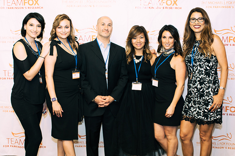 Photo by Natasha Moustache. James Joseph Salon provided hair styling for VIP guests. From left to right: Grace Soto, Gabrielle D'Antona, Andre Manguikian, Mary Chheng, Emily Hernandez and Maria Carvalho of James Joseph Salon