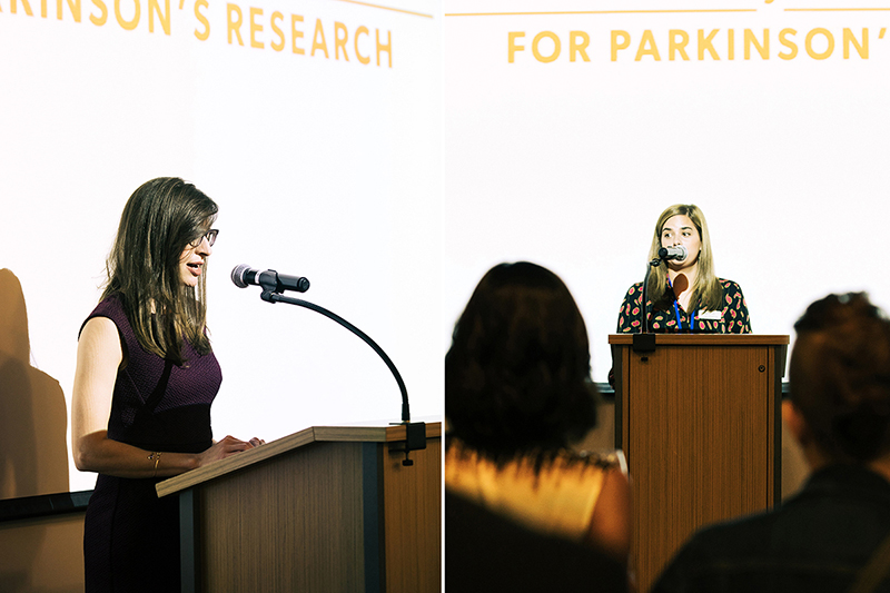 Photos by Natasha Moustache. Photos Left: Dr. Kara Smith, neurologist at the Parkinson's Disease and Movement Disorders Clinic at UMASS Memorial Medical Center. Right: Clare VanMeter, The Michael J. Fox Foundation.