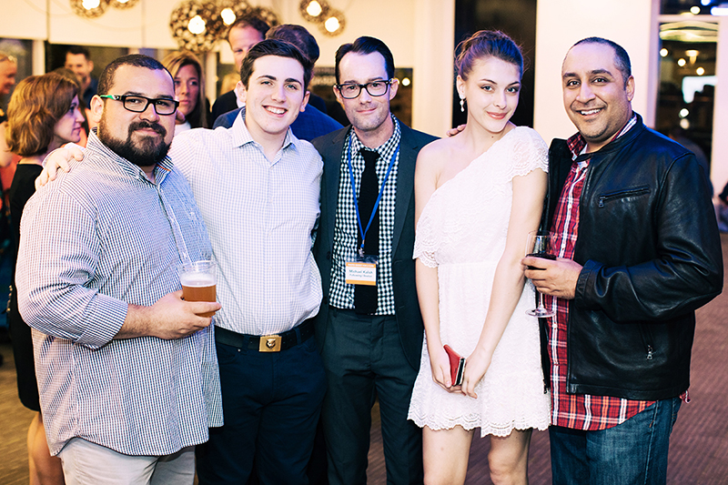Photo by Natasha Moustache. Oscar Alvarez, Jacob Solkof, Michael Kalish, founder of Following//Boston, Michal Magnan and Ajai Bharadwaj