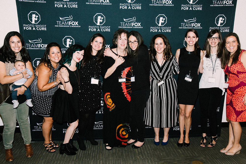 Photo Shoot for a Cure volunteers with Cindy Bittker, the inspiration behind the event. Left to Right: Debbie Barron, Lindsay Scarcella, Julie Lauritsen, Jenn Keaveney, Cindy Bittker, Diana Levine, Erin Keaveney, Marissa Robinson, Dr. Kara Smith, and Teri Volante Boardman. Photo by Julie Lauritsen.
