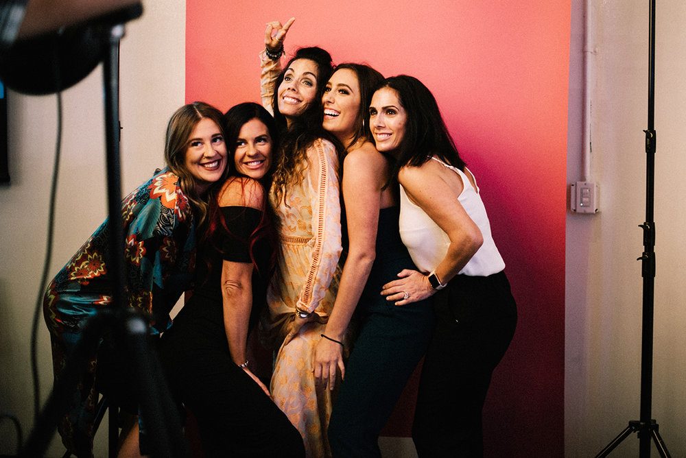 Christine Trembly, Stephanie Trembly, Shannon Sullivan from Polished Nail Boutique, Brooke Catino, and Lucinda Catino from Polished Nail Boutique. Photo by Angela Messmer-Blust.
