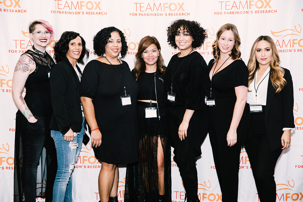 The hairstyling team from James Joseph Salon: Alyse Driskill, Denise Lavino, Rosa Diaz, Mary Chheng, Selina Sigaran, Davina Sicari, and Deborah Rivers. Photo by Natasha Moustache.