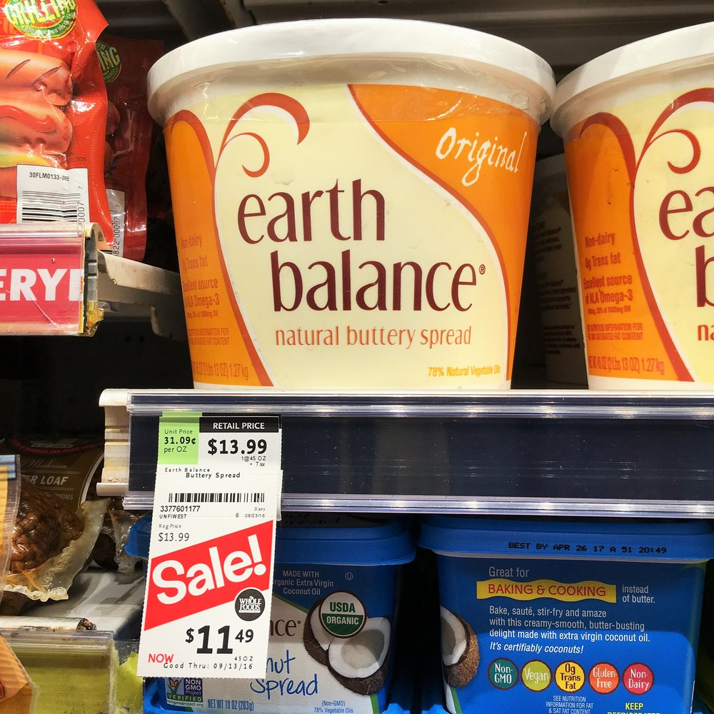 Dairy-free butter: In Maryland the same product is $8.99