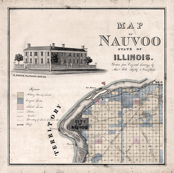 1840 Nauvoo Map Home Office Decor Lds Art And Lds Temple Art