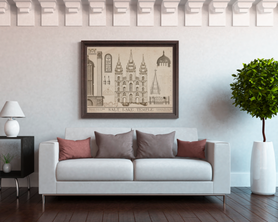 1853 Salt Lake Temple Blueprints — LDS Art and LDS Temple Art gifts ...