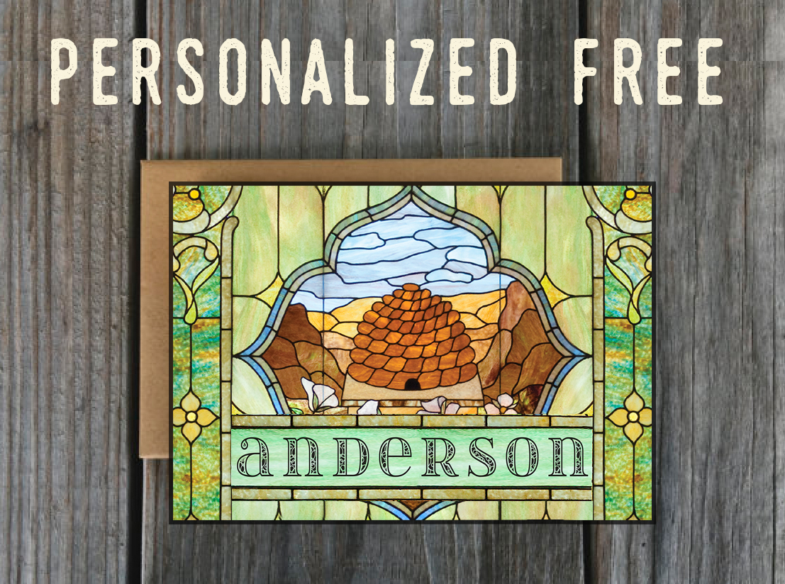 Personalized Lds Greeting Cards Beehive Window Lds Art And Lds