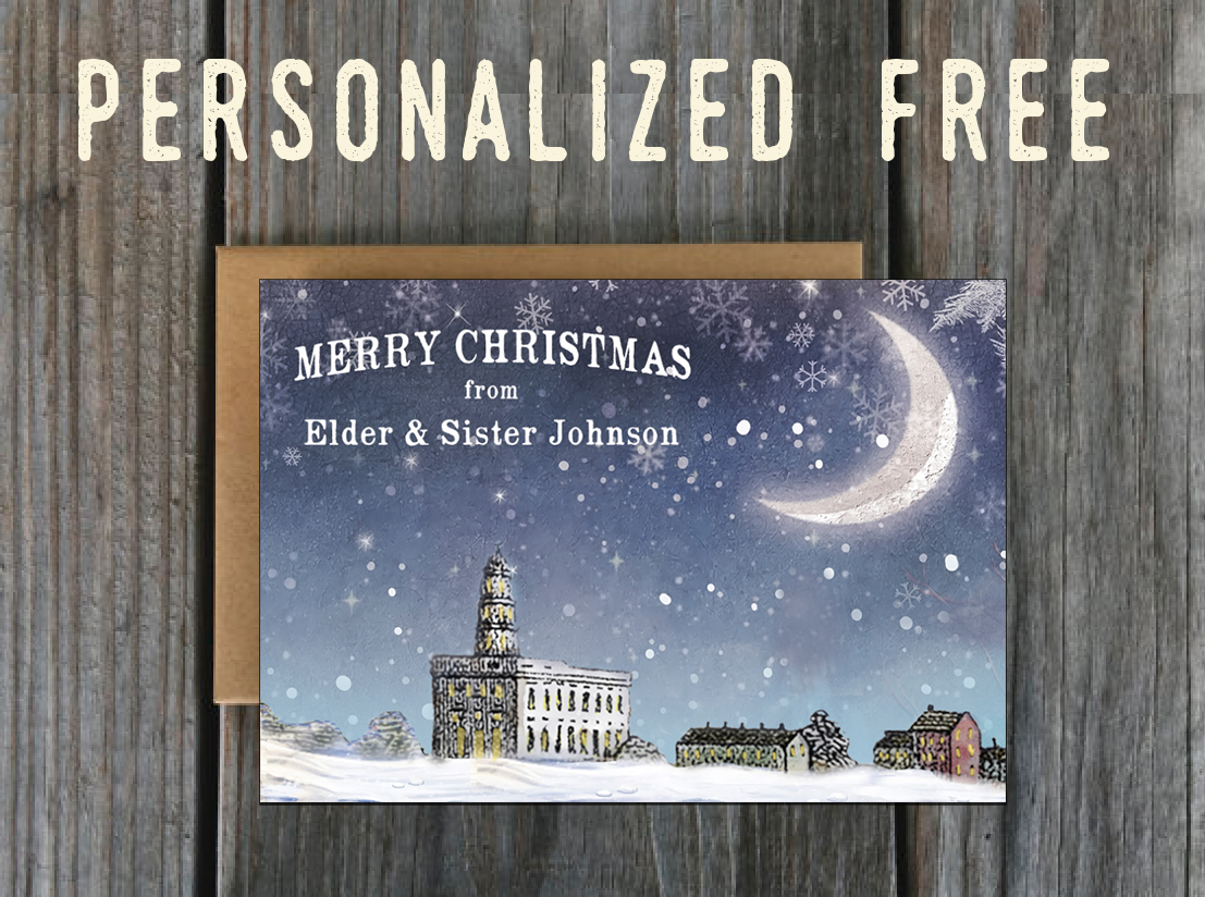Nauvoo Christmas Personalized Greeting Card Set Lds Art And Lds