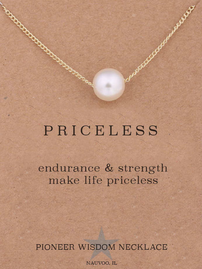 5a9161760eb Pioneer Wisdom Necklace - PRICELESS — Latter-day Saint Art, Gifts ...