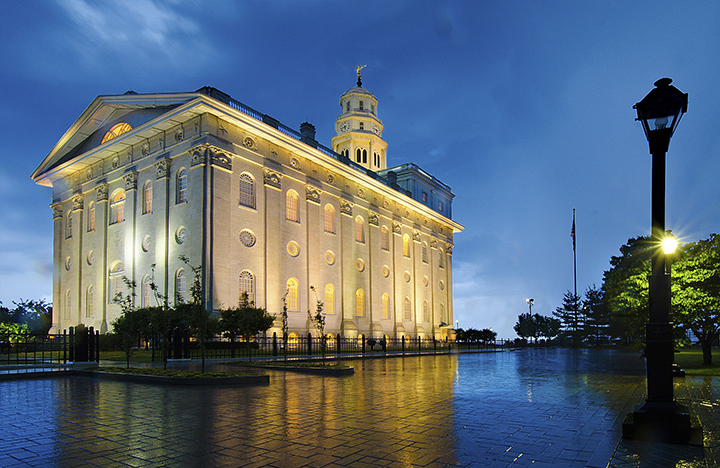 The Nauvoo Temple was reconstructed to almost exact specifications as the original Temple. Original building drawings done by William Weeks were used to rebuild the Nauvoo Temple.
